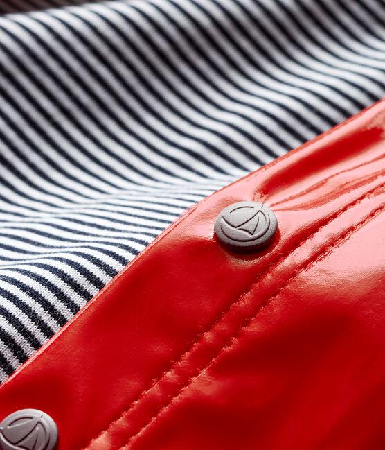 Baby Girls' Glossy Rain Cape Terkuit red