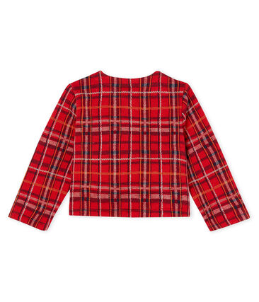 Baby Girls' Checked Cardigan