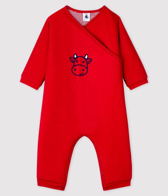 Babies' Unisex Cotton Romper Terkuit red