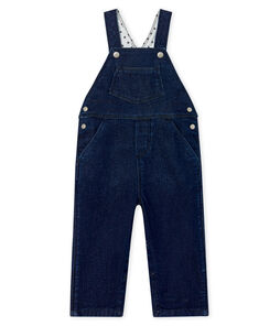 Unisex Baby's Long Denim Look Dungarees