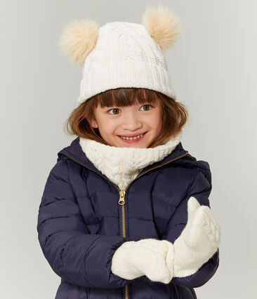 Girls' Woolly Hat Marshmallow white / Or yellow