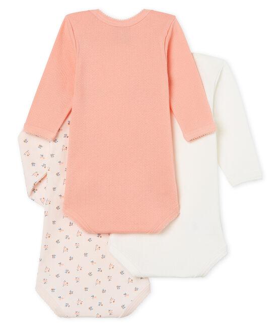 Baby Girls' Long-Sleeved Bodysuit - Set of 3 . set
