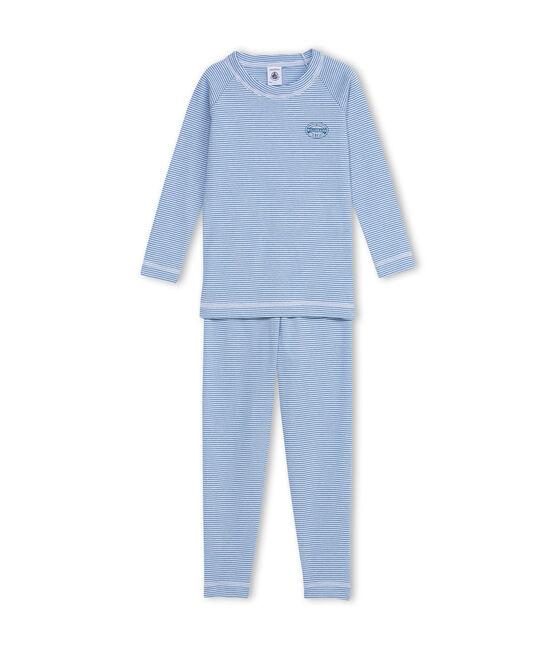 Boy's milleraies-striped Alaska blue / Ecume white