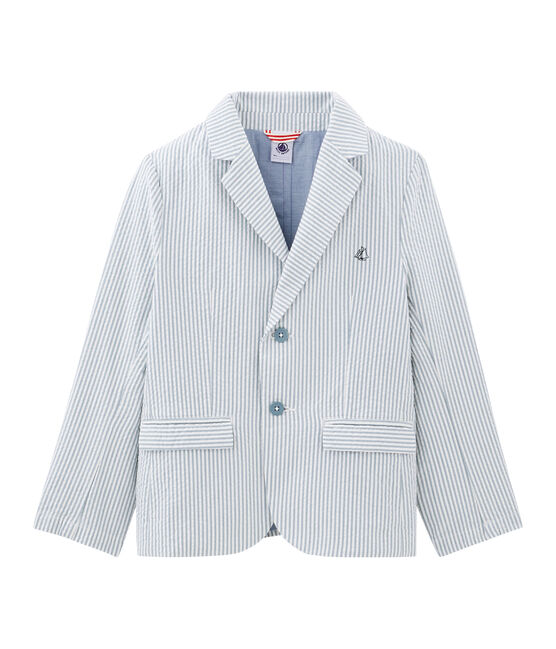 Boys' Jacket Fontaine blue / Marshmallow white
