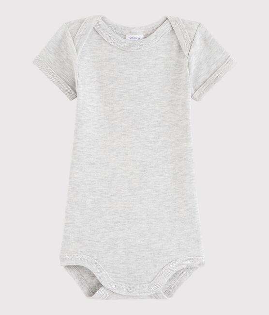 Unisex Babies' Short-Sleeved Bodysuit Beluga grey