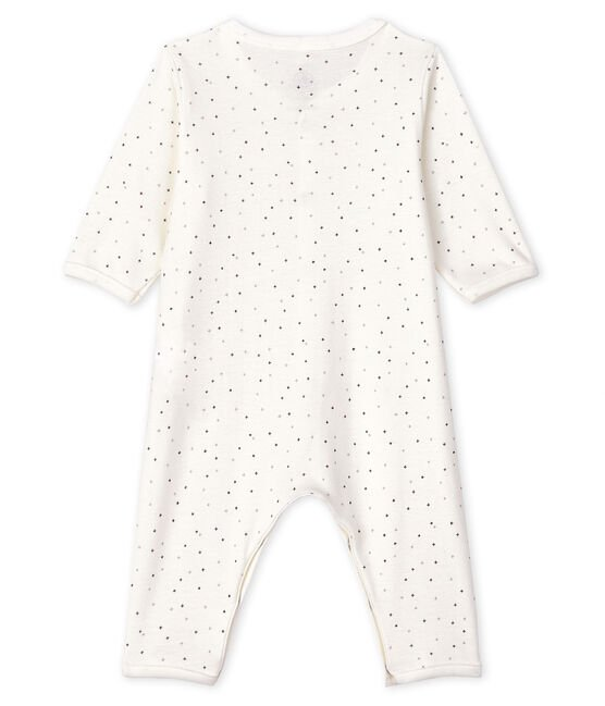 Babies' Starry Footless Organic Cotton Sleepsuit Marshmallow white / Multico white