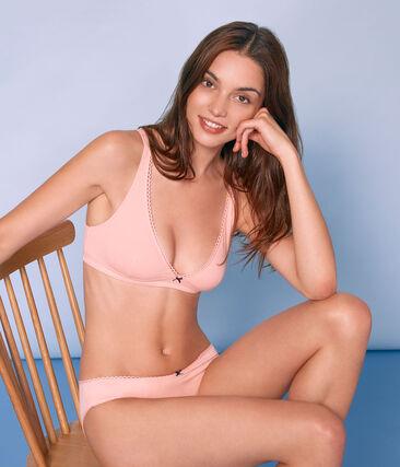 Women's extra fine jersey bra Rosako pink