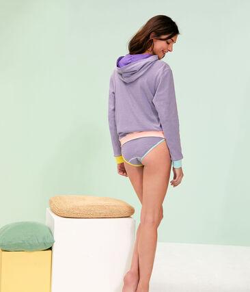 Women's Hoody Real purple / Marshmallow white