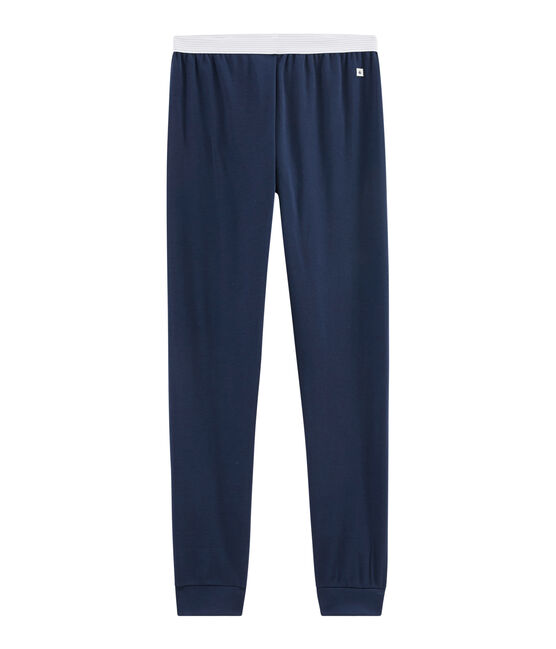 Men's Rib Knit Pyjama Bottoms Haddock blue