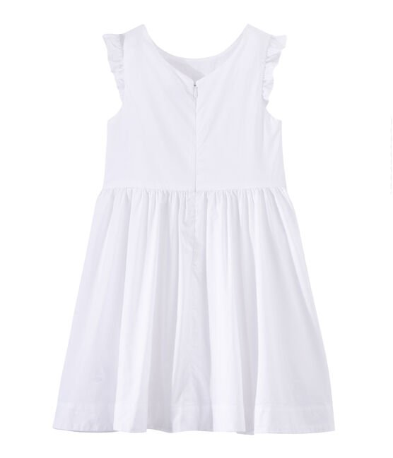 Girls' formal dress Ecume white
