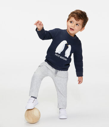 Baby Boys' Fleece Sweatshirt Smoking blue