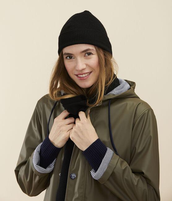 Women's woollen hat Noir black