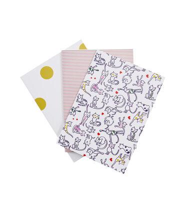 Set of three notebooks Marshmallow white / Multico white
