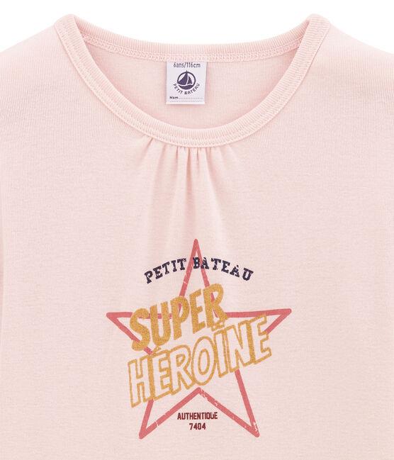 Girl's long sleeved T-shirt Joli pink