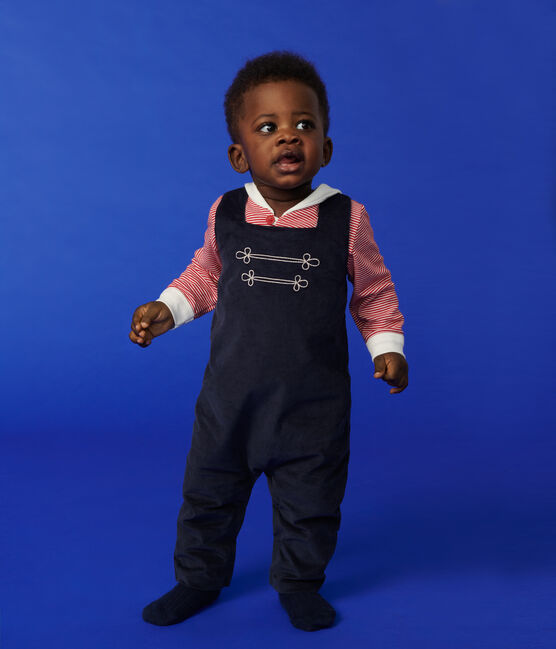 Baby boy's long playsuit Smoking blue