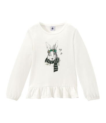 Girl's long sleeved screen print T•shirt