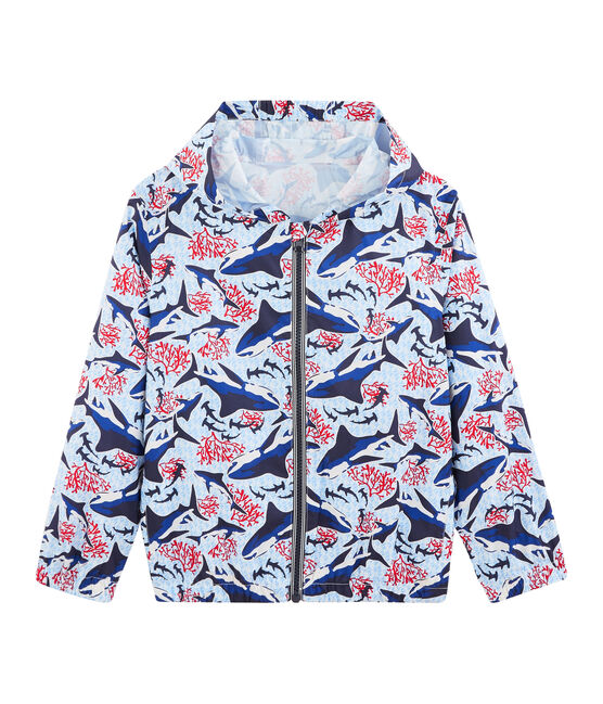Boys' 50+ UPF Sunproof Windbreaker Marshmallow white / Multico white