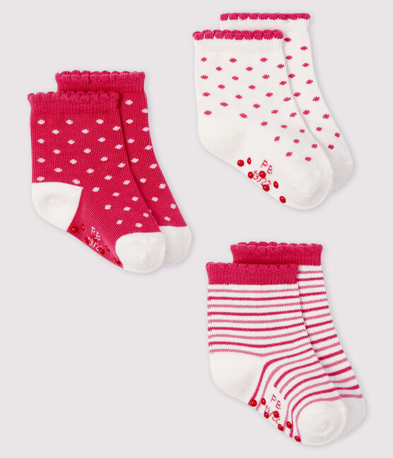 Pack of 3 pairs of baby socks . set