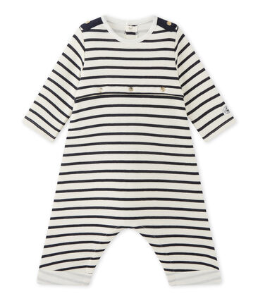 Baby boys' striped all-in-one