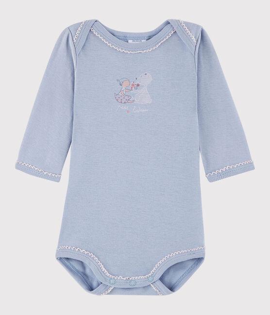 Baby Girls' Long-Sleeved Bodysuit Vanais blue
