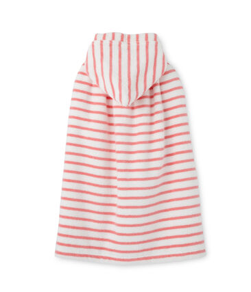 Baby's striped bath cape
