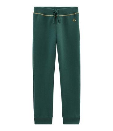 Girls' Soft Trousers Sousbois green