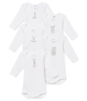 Set of 5 mixed baby's long sleeved bodies