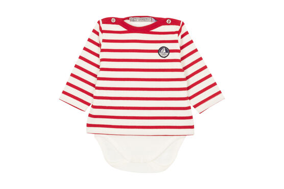 Baby boy's iconic sailor body Marshmallow white / Terkuit red