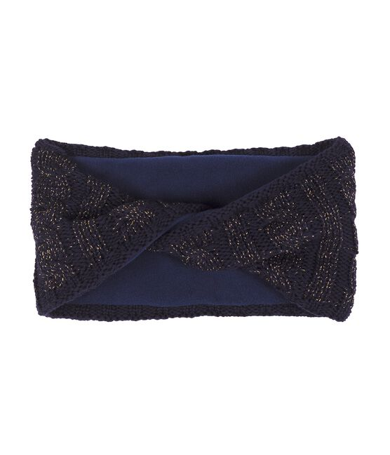 Girls' Snood Smoking blue / Or yellow