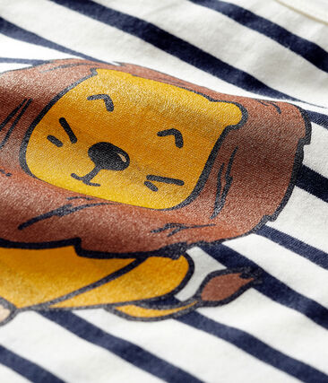Unisex Co-Created Sailor Top Coquille beige / Smoking blue