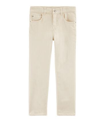 Boys' Trousers Feta white