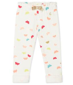 Baby Girls' Print Trousers Marshmallow white / Multico white