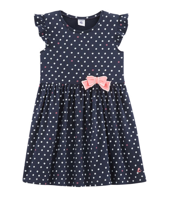 Girls' Dress Smoking blue / Multico white