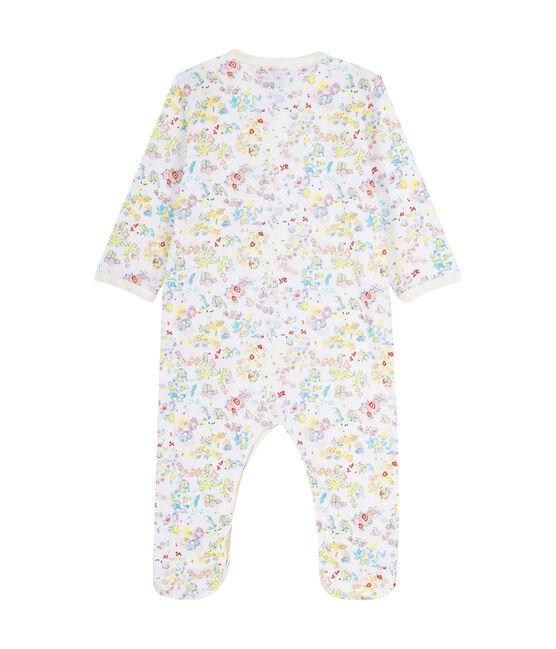 Baby Boys' Ribbed Sleepsuit Ecume white / Citrus yellow