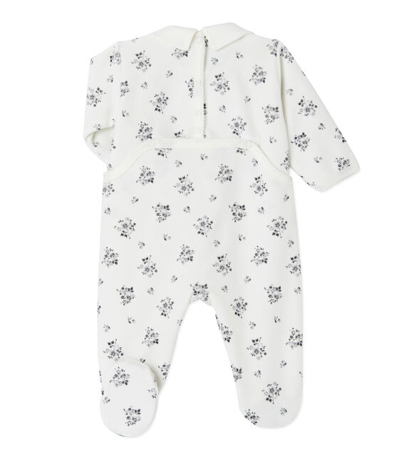 Baby girl's printed sleeper Lait white / Multico white