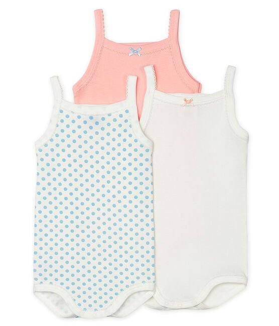 Baby Girls' Bodysuits with Straps - 3-Piece Set . set