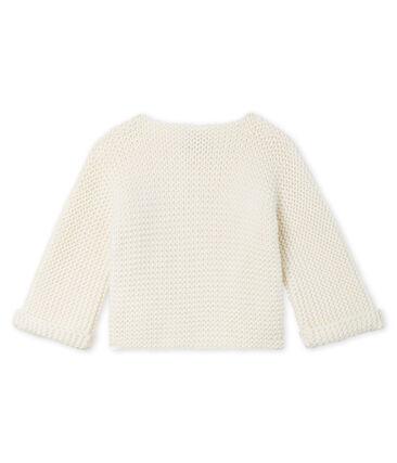 Baby Girl's Wool/Cotton Moss Stitch Cardigan
