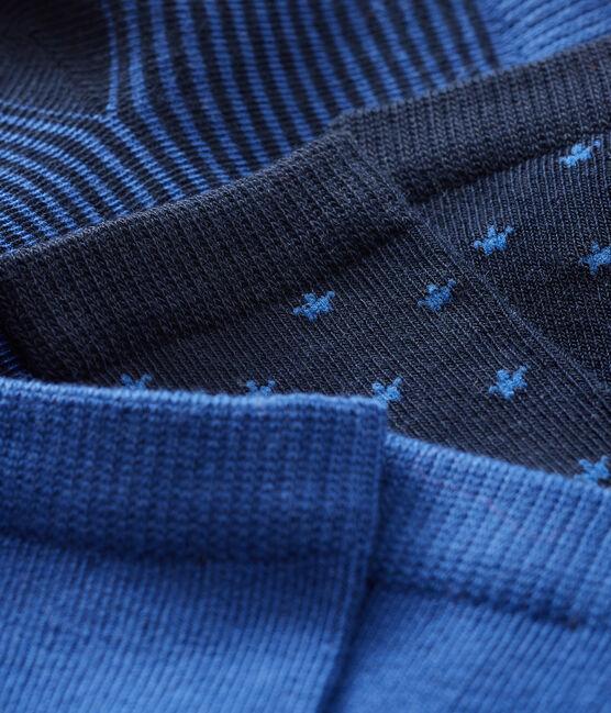 Baby Boys' Socks - 3-Piece Set Smoking blue / Limoges blue