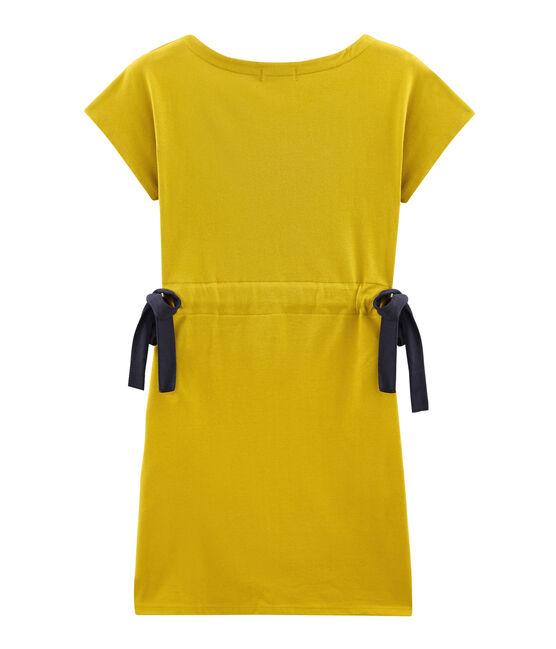 Women's short-sleeved dress Bamboo yellow