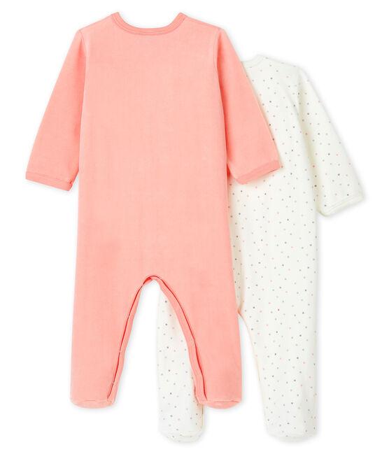 Baby Girls' Sleepsuit in Velour - 2-Piece Set . set
