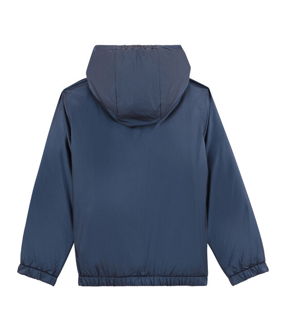 Child's warm, reversible windbreaker jacket Smoking blue