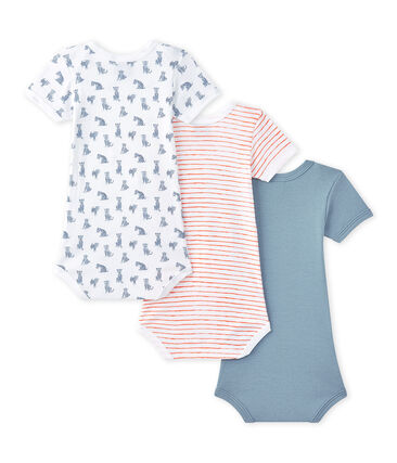 Set of 3 baby boys' short-sleeved bodysuits