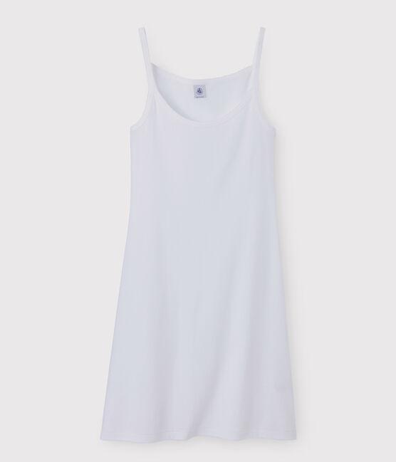 Women's strappy dress Ecume white