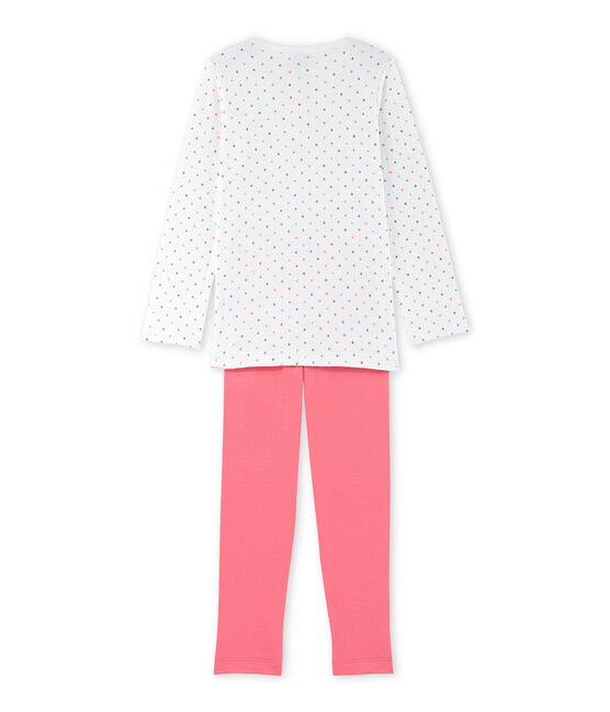 Girls' polka dot pyjamas Lait white / Carmen red