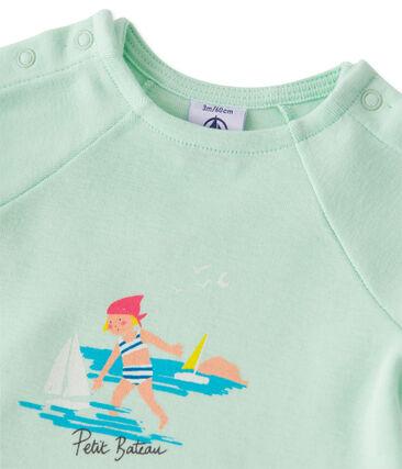 Baby girls' shorts and tee set Amandelium green / Flag green
