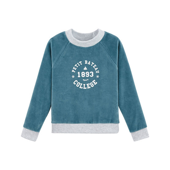 Girl child sweatshirt Mozaik blue