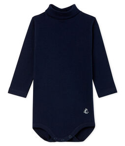 Unisex Babies' Long-Sleeved Roll-Neck Bodysuit Smoking blue