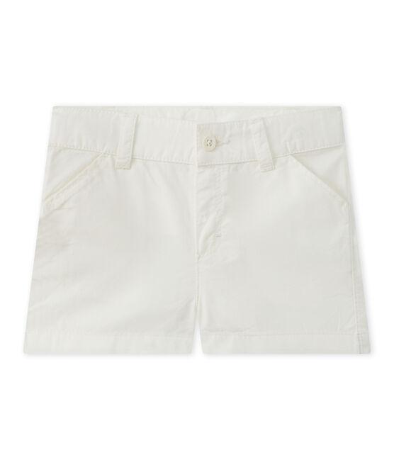 Baby boy's cotton shorts Marshmallow white