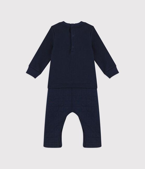 Babies' Cotton Jumpsuit. Smoking blue
