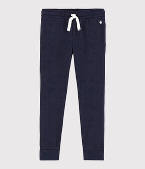 Boys' Jersey Jogging Trousers Smoking blue